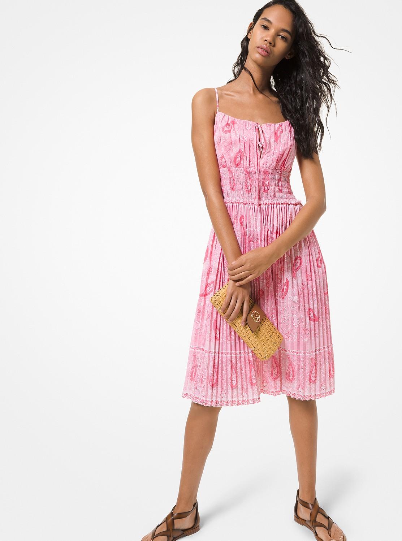 ペイズリー プリント タンクドレス