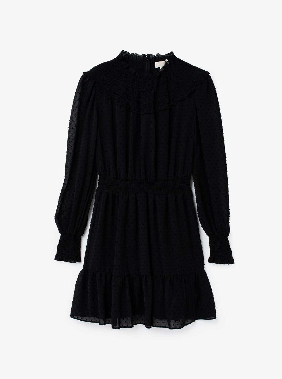 SWISS ドット スモックド ドレス