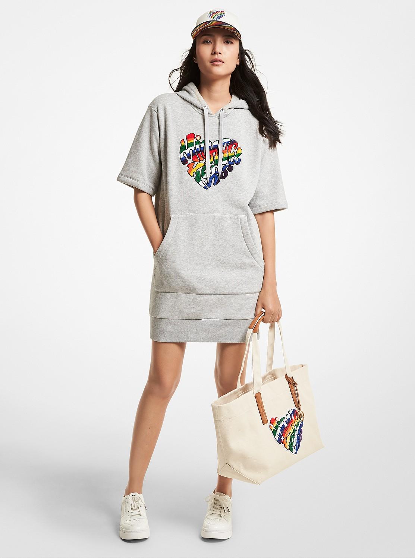 PRIDE カプセル レインボーロゴ フーディー ドレス