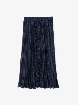 ドット プリーツスカート
