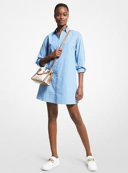 ストライプ オーバーサイズシャツ ミニドレス