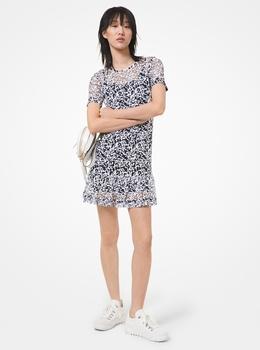シークイン メッシュ ドレス
